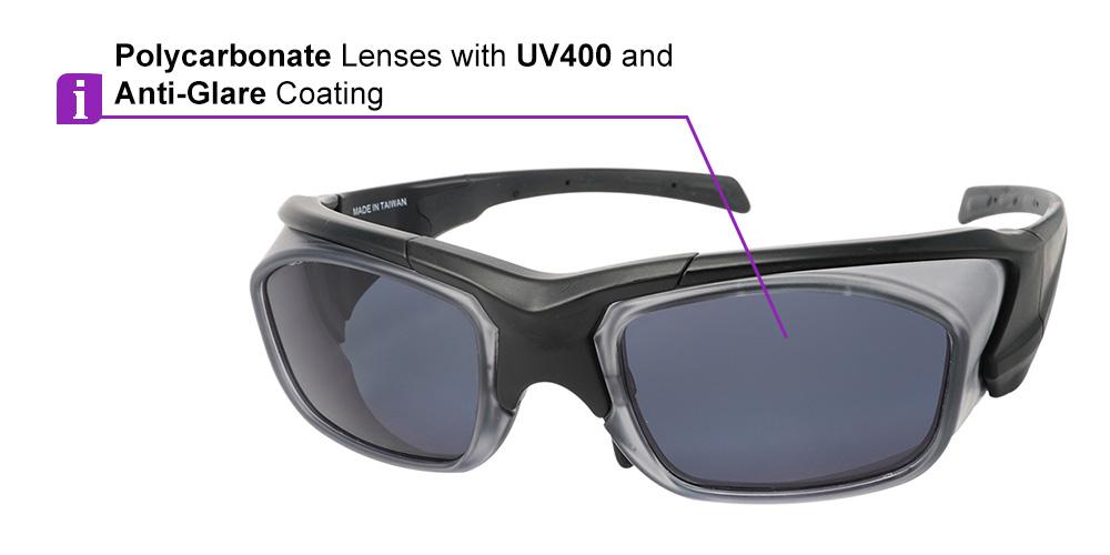 Matrix Corona Prescription Safety Sports Sunglasses - Unisex Safety Glasses