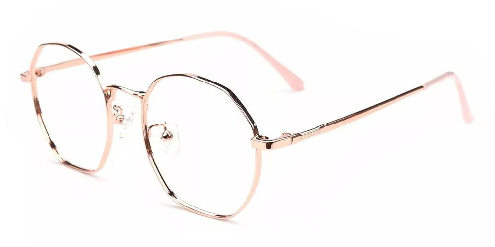 Downey Prescription Glasses Gold
