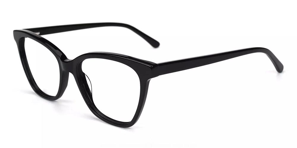 Pacoima Cat Eye Prescription Glasses - Hand Made Acetate - Black
