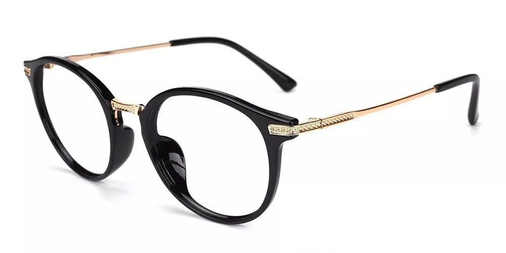 Allen Acetate Eyeglasses Black
