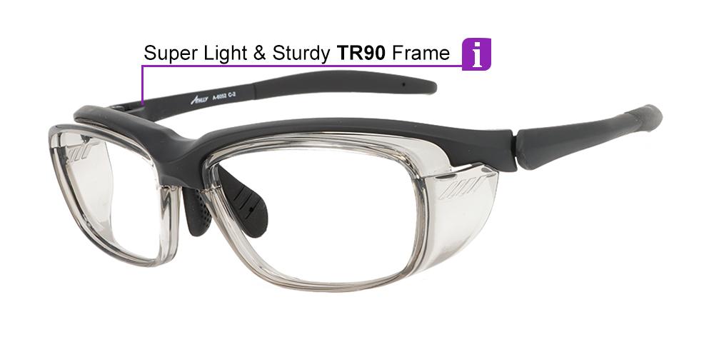 Fusion Cascade Prescription Safety Glasses Black