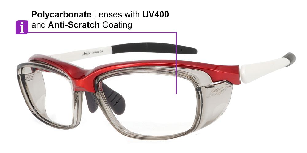 Fusion Cascade Prescription Safety Glasses Red