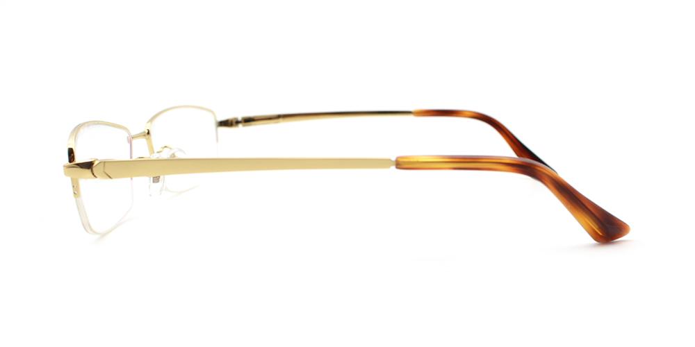 Aiden Titanium Glasses Gold
