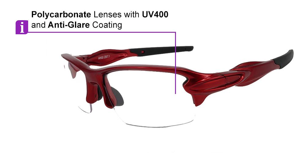 Matrix S713R Protective Eyewear Red -- ANSI Z87.1 Certified