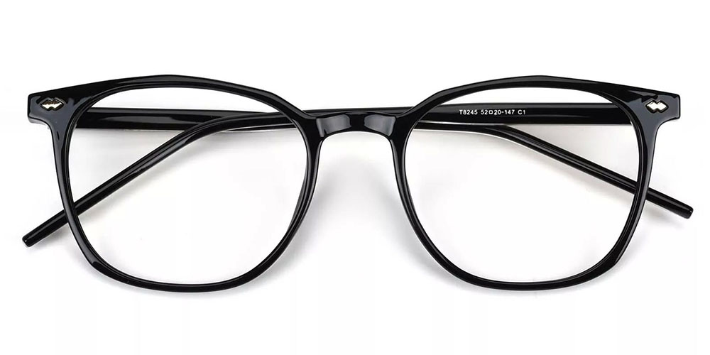 Knoxville Prescription Glasses - Light & Strong TR90 - Black