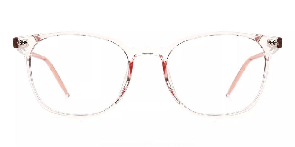 Knoxville Prescription Glasses - Light & Strong TR90 - Clear Pink