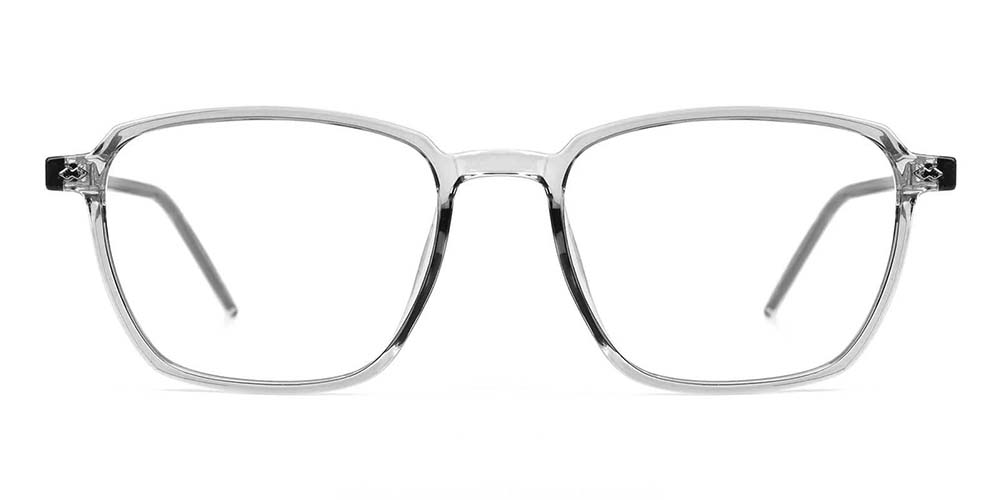 Joliet Prescription Glasses - Light & Strong TR90 - Clear Grey