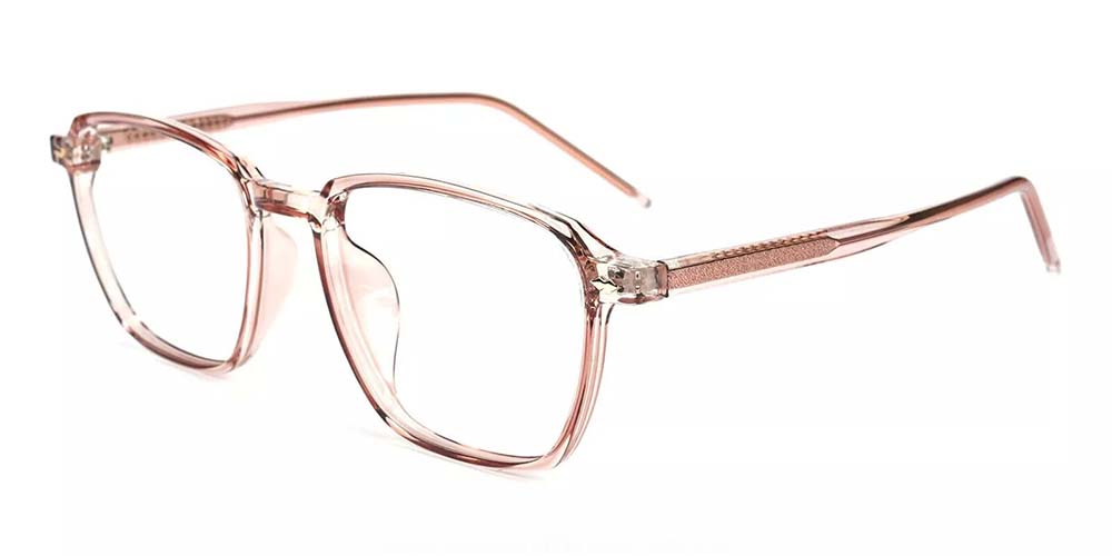 Joliet Prescription Glasses - Light & Strong TR90 - Clear Pink