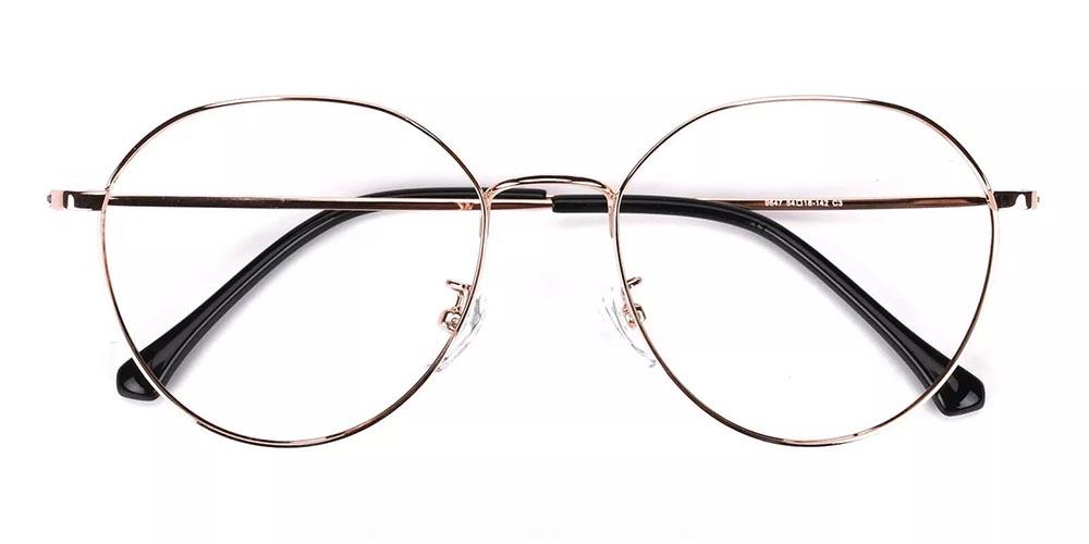 Wildomar Metal Prescription Glasses Gold