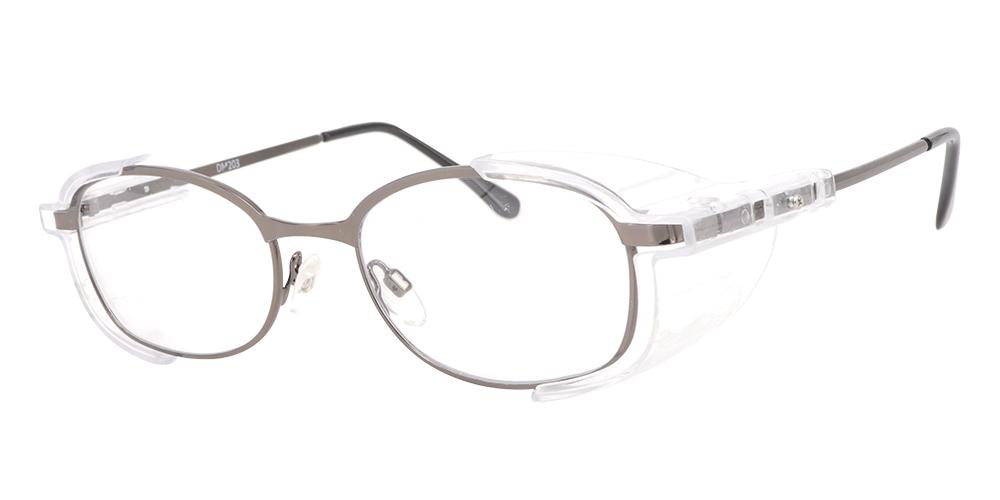 Westmont Prescription Safety Glasses Grey -- Impact Resistant Side Shields