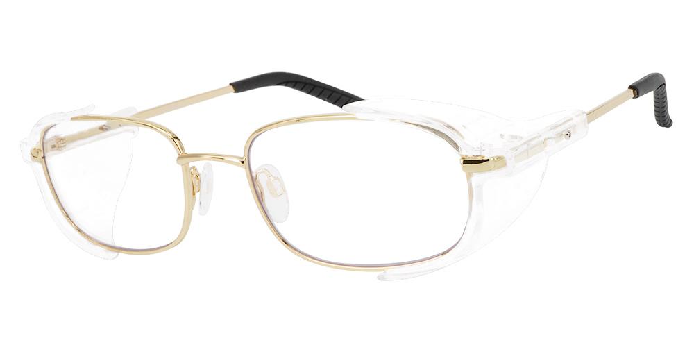 Westmont Prescription Safety Glasses Gold -- Impact Resistant Side Shields