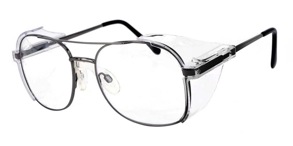 Frisco Aviator Prescription Safety Glasses -- Impact Resistant Side Shields