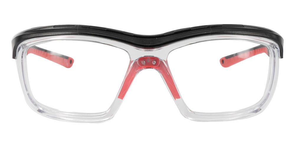 Fusion Omaha Prescription Safety Glasses Red Clear - - ANSI Z87.1 Certified Stamped