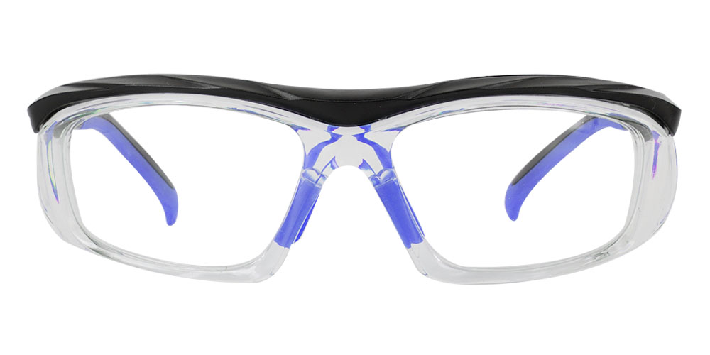 Fusion Plano  Prescription Safety Glasses Blue - ANSI Z87.1 Certified Stamped
