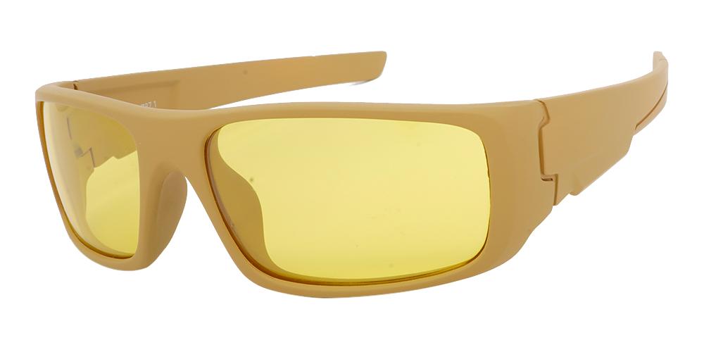 Amarillo Prescription Sports Sunglasses Almond  - ANSI Z87.1 Certified