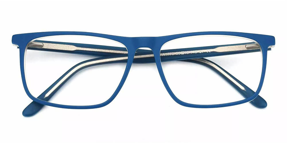 Charleston Prescription Glasses - Hand Made Acetate - Blue