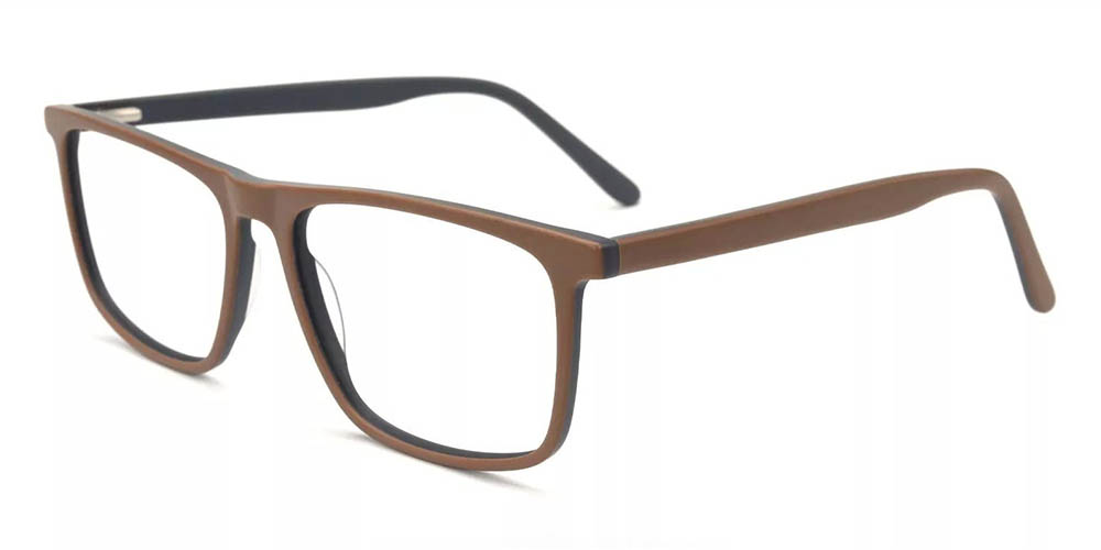Charleston Prescription Glasses - Hand Made Acetate - Brown