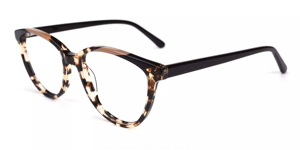 Kenosha Cat Eye Prescription Glasses - Handmade Acetate - Tortoise