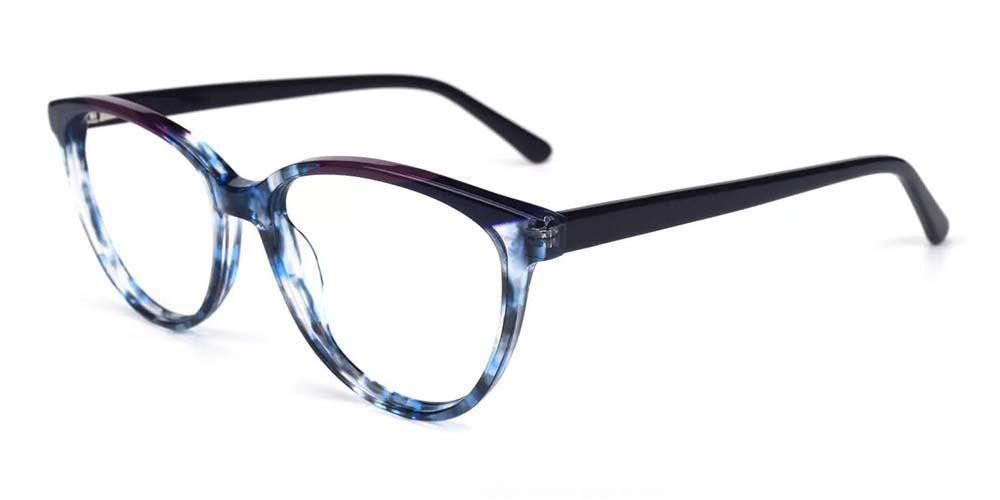 Kenosha Cat Eye Prescription Glasses - Handmade Acetate - Demi