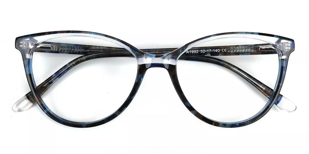 Pacoima Cat Eye Prescription Glasses - Hand Made Acetate - Demi Amber