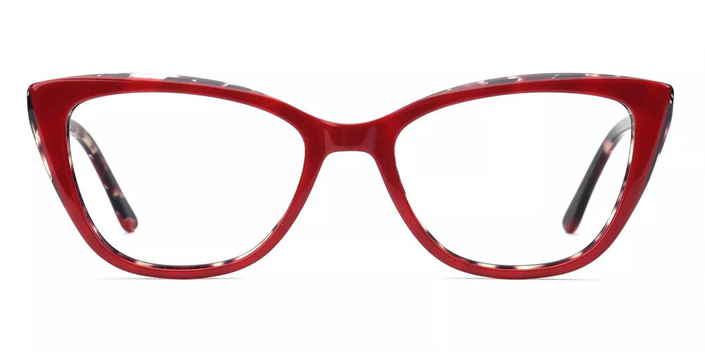 Cambridge Cat Eye Prescription Glasses - Handmade Acetate - Red