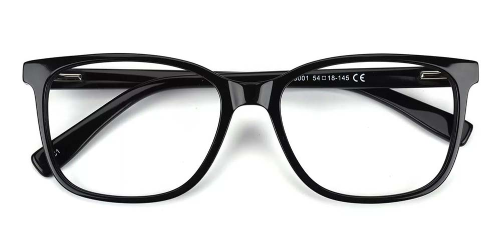 Lowell Prescription Glasses -- Hand Made Acetate -- Black