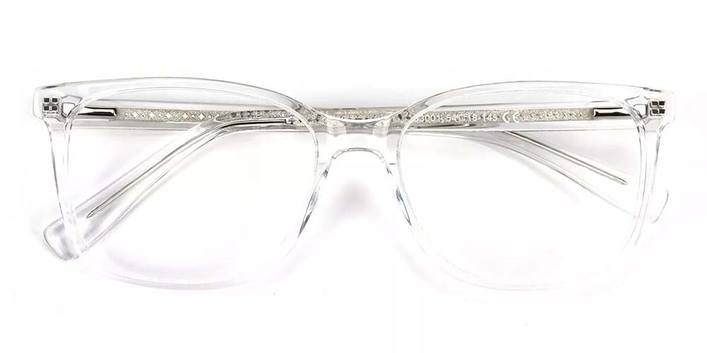Lowell Prescription Glasses -- Hand Made Acetate -- Clear