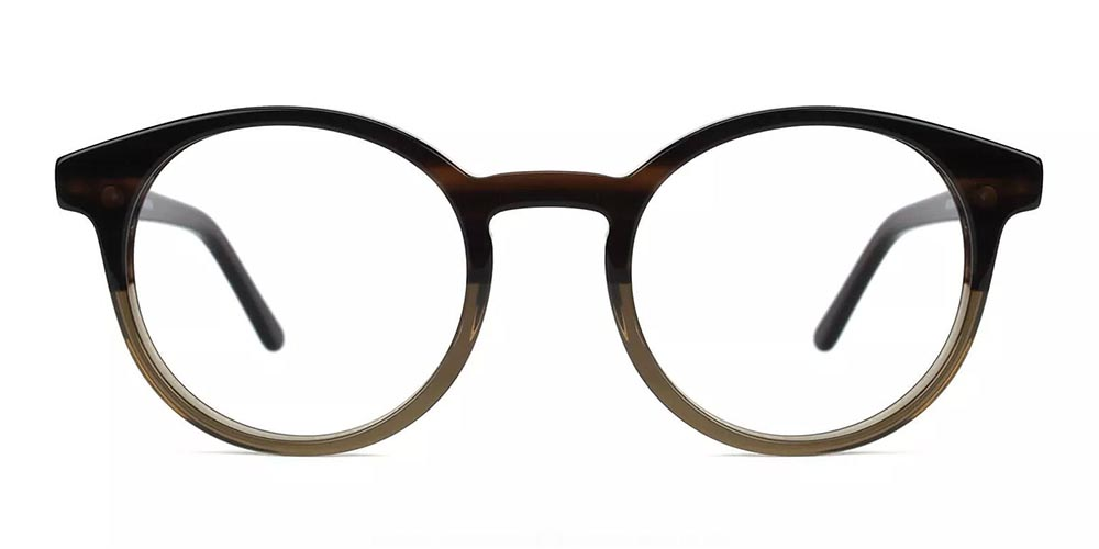 Newhall Clip On Prescription Sunglasses - Hand Made Acetate - Brown