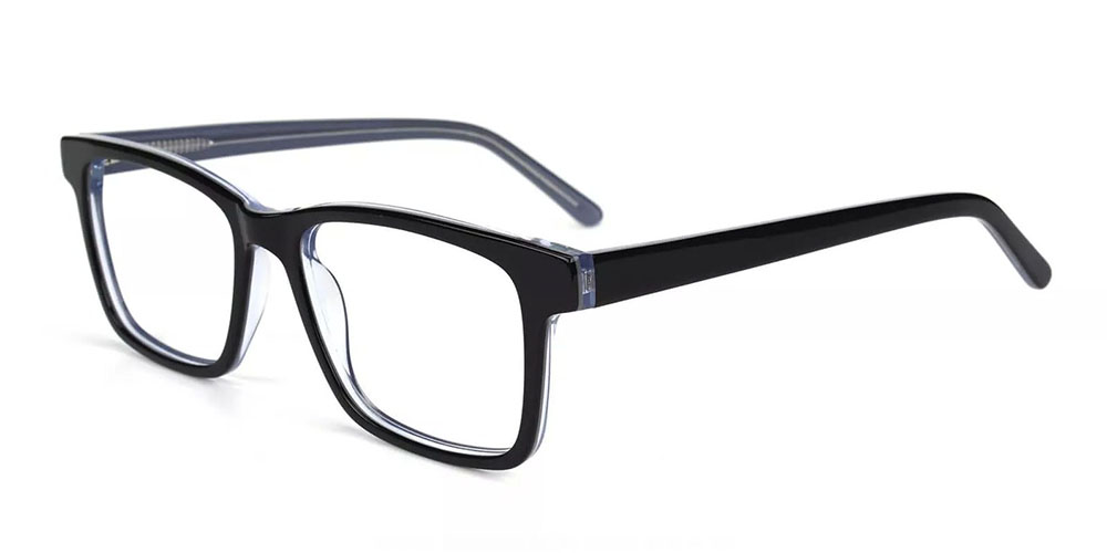 Norco Clip On Prescription Sunglasses - Hand Made Acetate - Black Clear