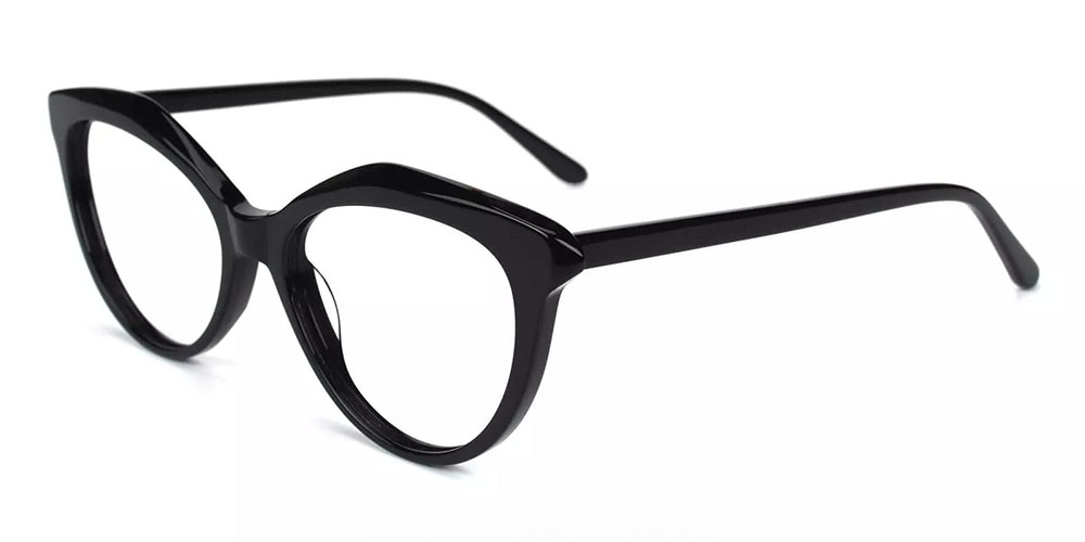 Provo Clip On Prescription Sunglasses - Hand Made Acetate - Black