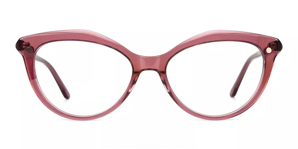 Provo Clip On Prescription Sunglasses - Hand Made Acetate - Clear Red