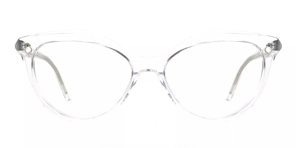 Provo Clip On Prescription Sunglasses - Hand Made Acetate - Clear