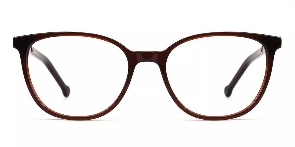 Pueblo Cat Eye Prescription Glasses - Handmade Acetate - Brown