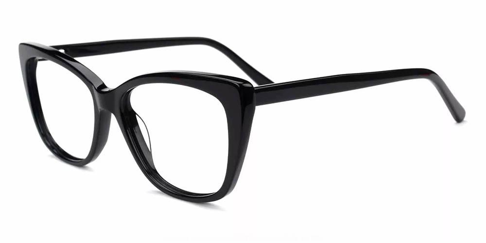 Everett Cat Eye Prescription Eyeglasses Black