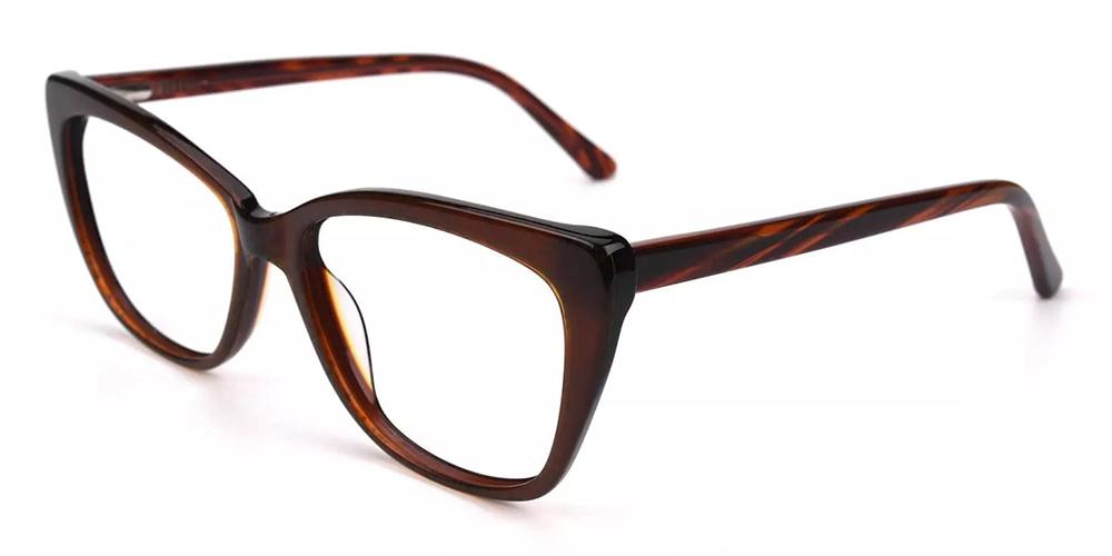 Everett Cat Eye Eyeglasses Brown