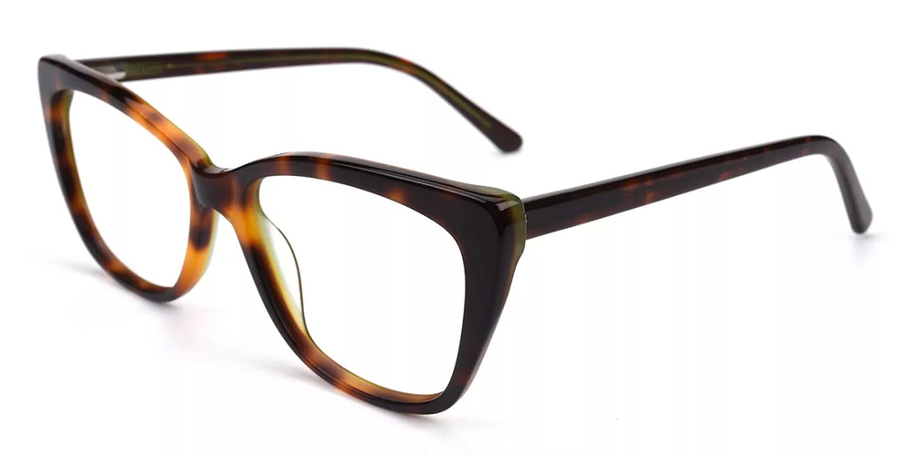 Everett Cat Eye Eyeglasses Demi Amber