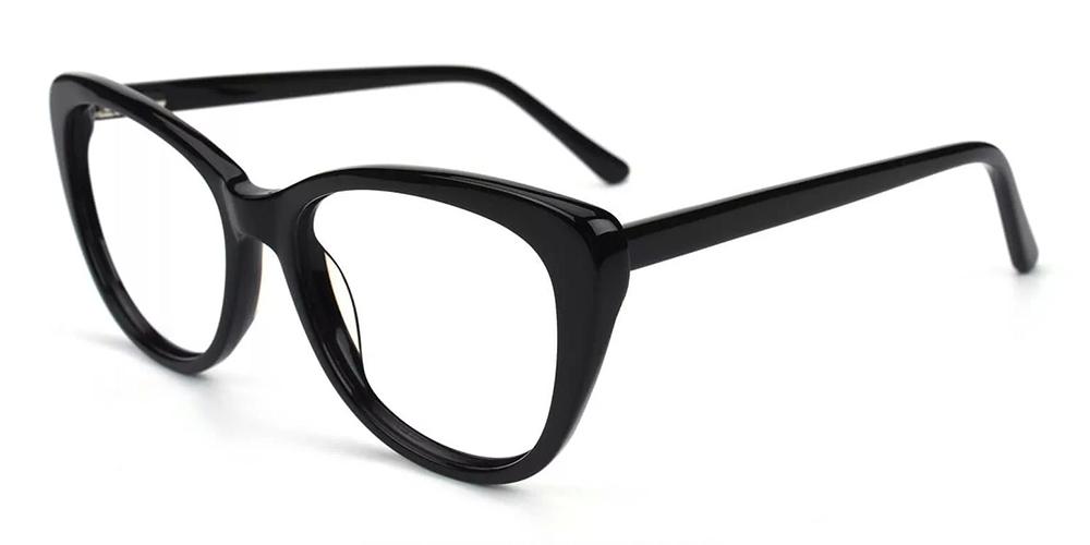 Marina Cat Eye Women Eyeglasses Black