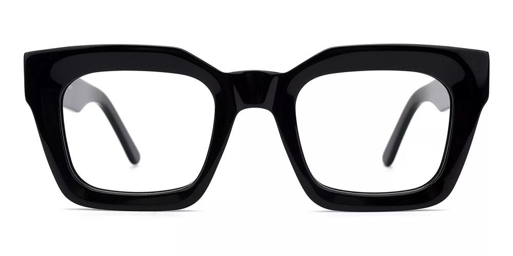 Mobile Prescription Glasses - Handmade Acetate - Black