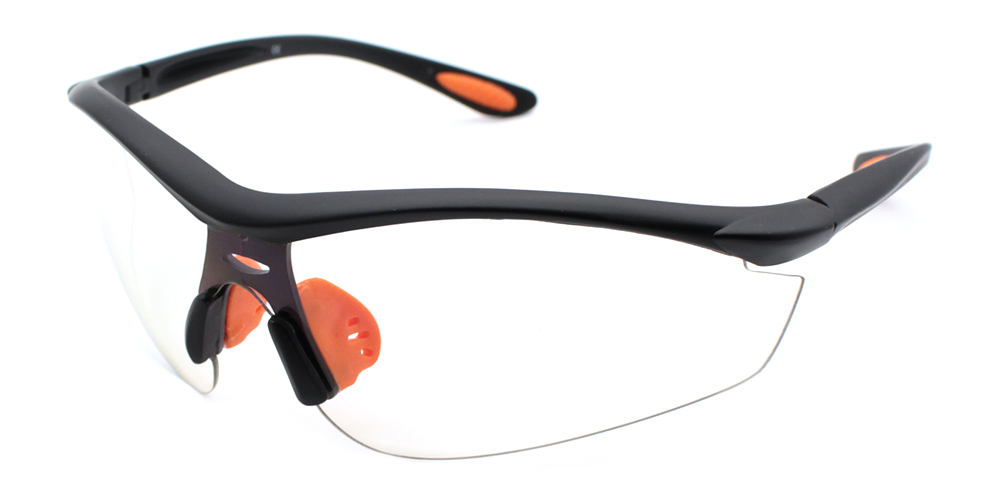 Connor Rx Safety Glasses Black - Unisex Prescription Sports Glasses
