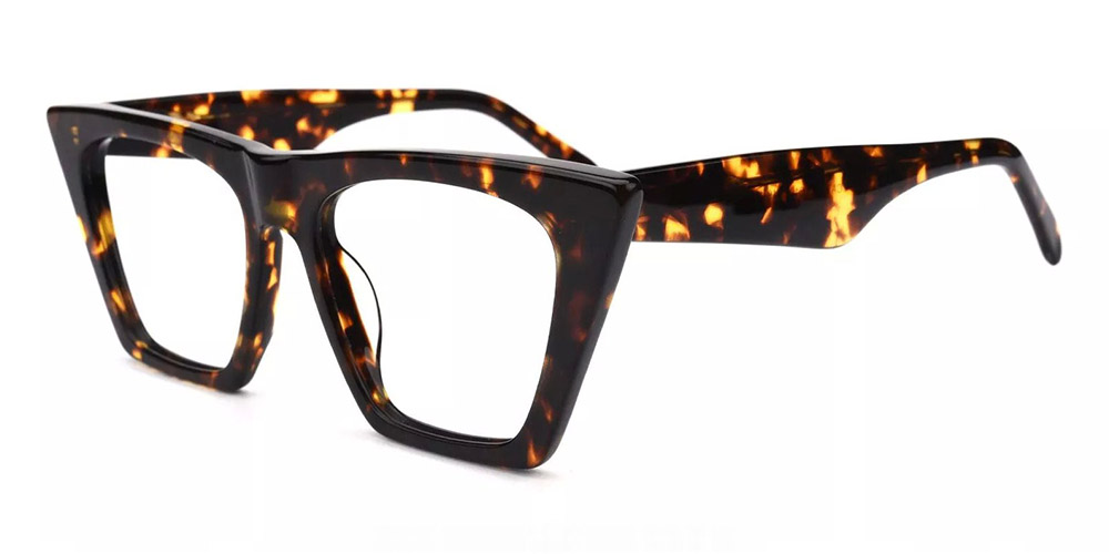 Concord Cat Eye Prescription Glasses - Handmade Acetate - Tortoise