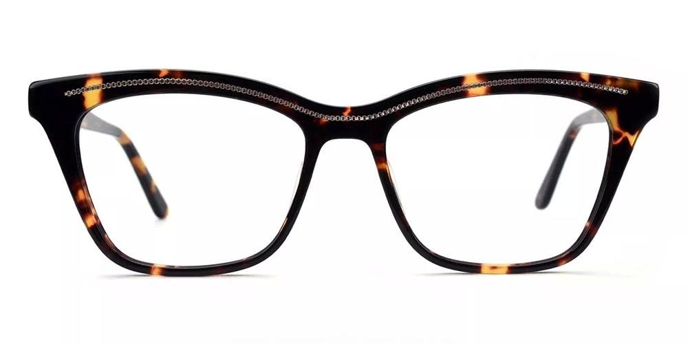 Roseville Cat Eye Prescription Glasses - Handmade Acetate - Tortoise