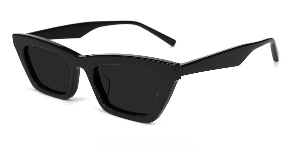 Lafayette Cat Eye Prescription Sunglasses Black