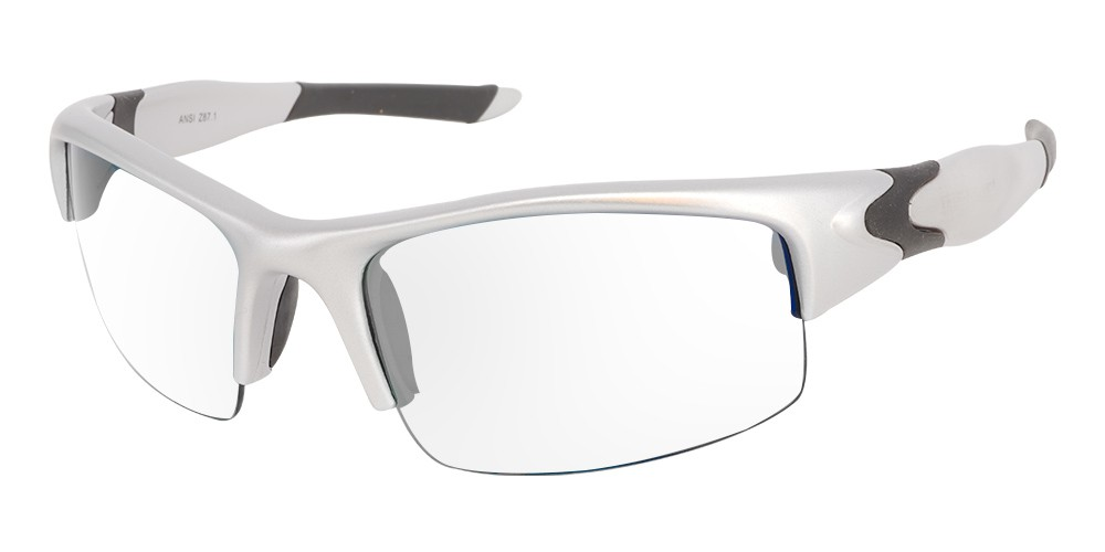 Norfork Prescription Safety Glasses Silver -- ANSI Z87.1 Rated