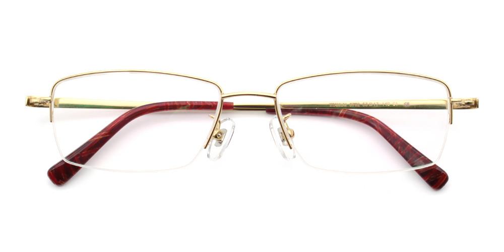 Jackson Titanium Glasses Gold