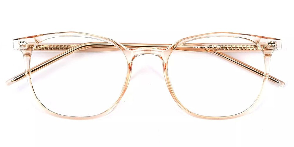 Knoxville Prescription Glasses - Light & Strong TR90 - Clear Gold