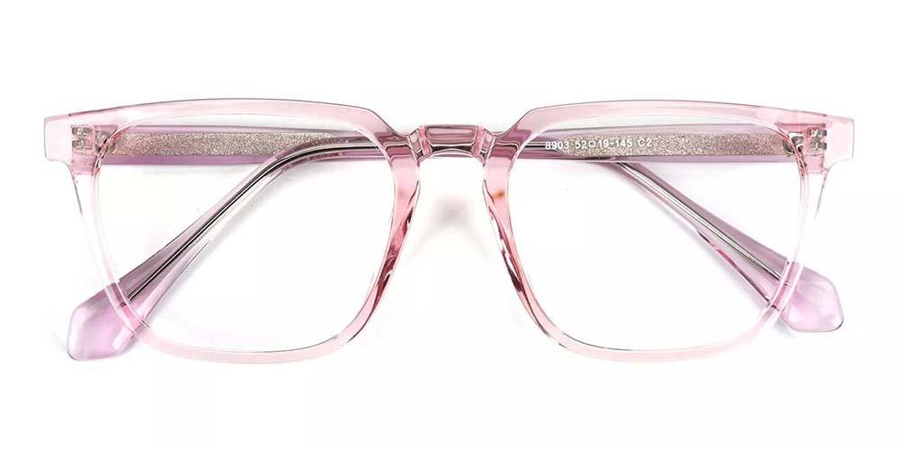 San Mateo Prescription Glasses Clear Pink