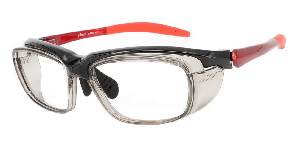 Fusion Cascade Prescription Safety Glasses Black Red