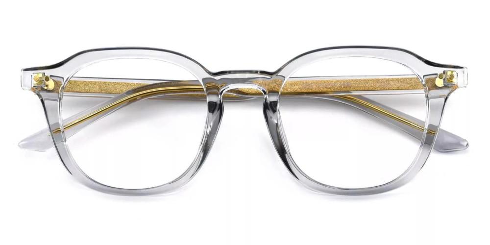 Edison Acetate Eyeglasses Gray Clear