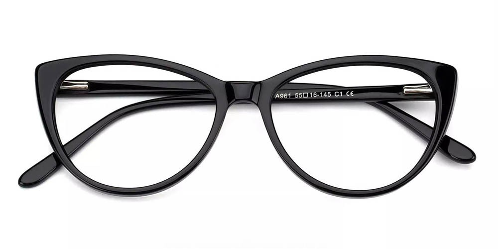 Costa Cat Eye Prescription Eyeglasses Black