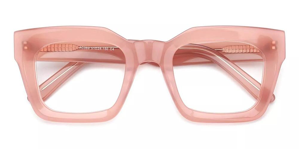 Mobile Prescription Glasses - Handmade Acetate - Pink